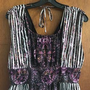 Free People Dresses - Free People Mixed Pattern Boho Dress